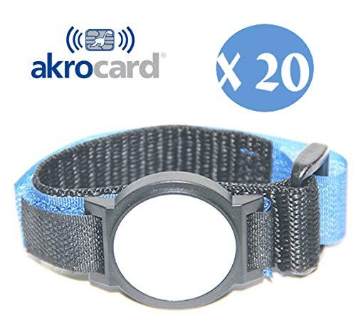 Confezione 20 Pezzi - Braccialetto NFC 1 K, ISO 14443 A/B) a 13,56 MHz
