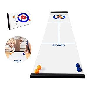 Jhua Curling Game per la famiglia Portable Team Board Giochi Tabletop Training Giochi per famiglie per bambini e adulti Indoor, Viaggi