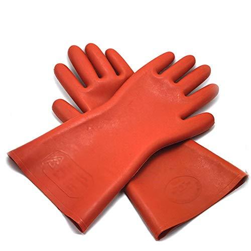 BHDYHM 12KV Sicherheit Elektrische Schutzhandschuhe Gummi Isolierhandschuhe 1 Paar Hochspannungselektriker