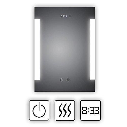 HOKO® LED Bad Spiegel beleuchtet mit Digital Uhr  ANTIBESCHLAG SPIEGELHEIZUNG Fulda Bild 6*