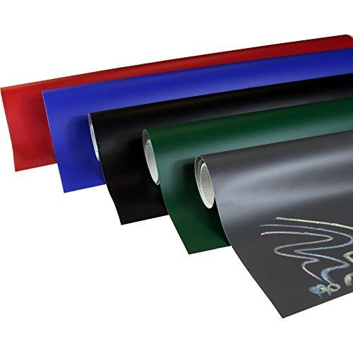 Rapid Teck® Tafelfolie Selbstklebend Schwarz 60cm x 200cm– Multifunktions-Folie – Klebe-Folie Möbelfolie