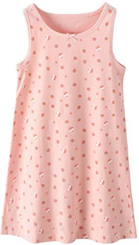 HOYMN Kleine Mädchen Nachthemden Prinzessin Süß Baumwolle Ärmellos Schlaf-Shirts Nachtwäsche für 3-12 Jahre