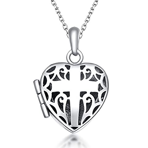 Heart Locket Heart Necklaces 925 Sterlings Silver Plated Lockets For Photos Can Open 45CM Chains