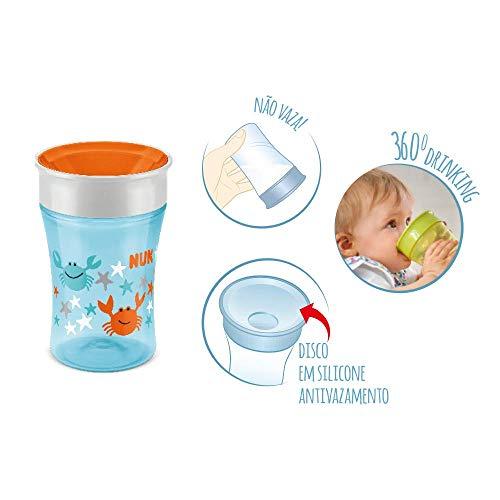 NUK Magic Cup Trinklernbecher, 360° Trinkrand, auslaufsicher abdichtende Silikonscheibe, 230ml, BPA-frei, Design nicht frei wählbar, 1 von 3 möglichen Motiven - 4