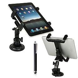 Bestwe 360 Grad drehbar Universal Auto KFZ Halterung für Samsung Galaxy Tab 3 7.0 Lite Tab Pro 8.4 10.1 Tab 4 7.0 8.0 10.1 /Tab S 8.4 10.5/ Sony Xperia Z2 / Apple iPad Air 2 / iPad Air / iPad mini 2 und für weitere Modelle + eine freie stylus Ei...
