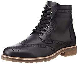 UCB Mens Black Leather Boots -9 UK