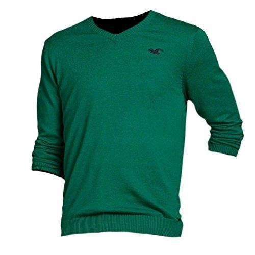 hollister-maglione-basic-maniche-lunghe-uomo-green-medium