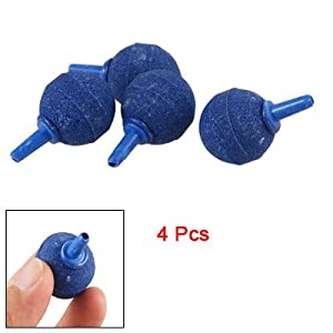 4 Pcs Blue Ball Shape Air Bubble Release Stone for Aquarium Fish Tank