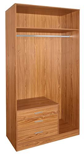 SZ Suarez Armario ropero Abierto Nogal Funcional vestidor Dormitorio habitacion Matrimonio Juvenil 100x55x200