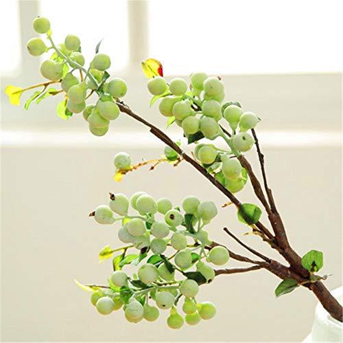ZJJZH Künstliche dekorative Blumen Cranberry Berry Blaubeer-Simulationsanlage Obstbaum-Zweig der amerikanischen Schießenstütze Dekoration der künstlichen Blume Kunstblumen & -Pflanzen. -