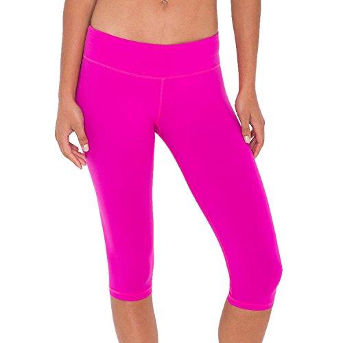 american-apparel-da-donna-lunghezza-al-ginocchio-pantaloni-fitness-donna-hot-fuchsia-small-25-26