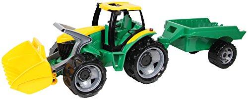 Lena 02123 - Starke Riesen Traktor mit Schaufel und Anhänger, Gesamtlänge ca. 105 cm