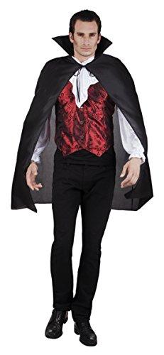 Fancy Ole - Herren Männer Halloween Karneval Kostüm Vampir-Dracula Cape, Umhang, One Size, Schwarz