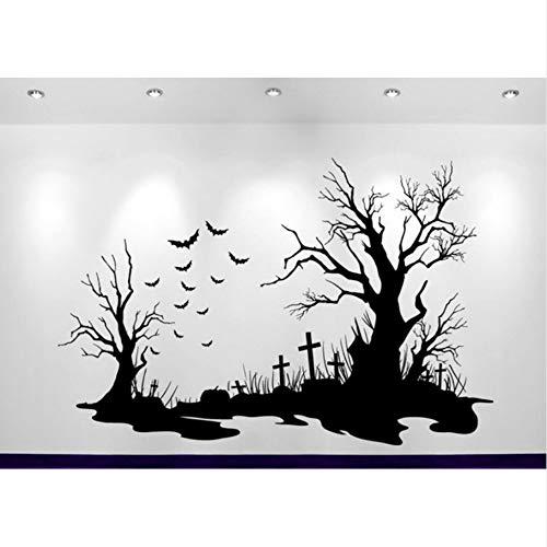 (Lbonb Halloween Friedhof Szene AufkleberDekorationWandaufkleberSofa Hintergrund Dekor Adesivo De Parede Decals Poster 63 * 42 Cm)