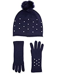 ca895874 Tommy Hilfiger Women's Stars Gloves and beanie holiday giftpack,Blue (Tommy  Navy 413)