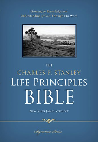 NKJV, The Charles F. Stanley Life Principles Bible, Hardcover: Holy Bible, New...