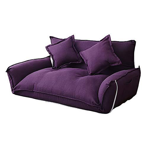 JIE KE Lazy Couch Einzel Doppel Schlafzimmer Kleine Sofa Boden Stuhl Faltbare Abnehmbare Waschbar...