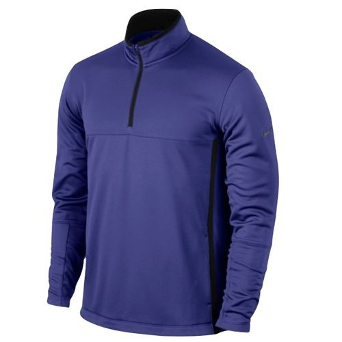 Nike Herren Therma-Fit Cover-Up Pullover, Black/Deep Night/Anthracite/Dunkelblau, L (Cover Golf Up Nike)