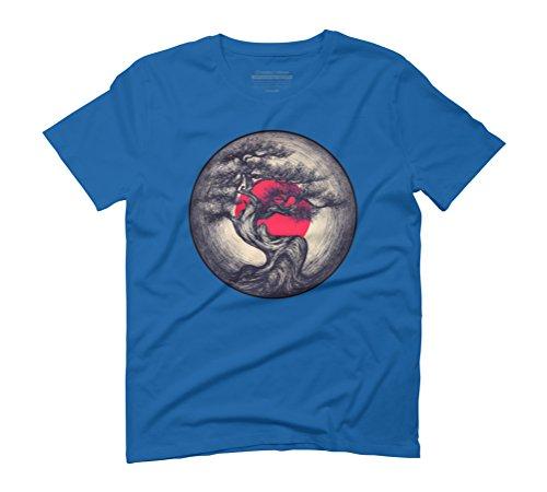 Design By Humans Life Recording Men's Medium Royal Blue Graphic T-Shirt - Royal Brush Roll