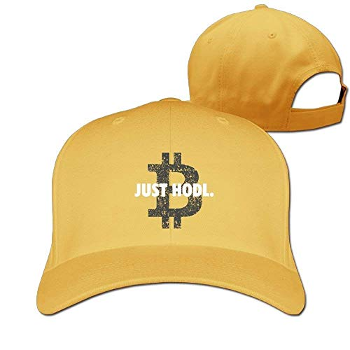 Preisvergleich Produktbild Wamnu Baseball Caps Just Hold Bitcoin Golf Dad Hat Adult Vintage Snapbacks Hats