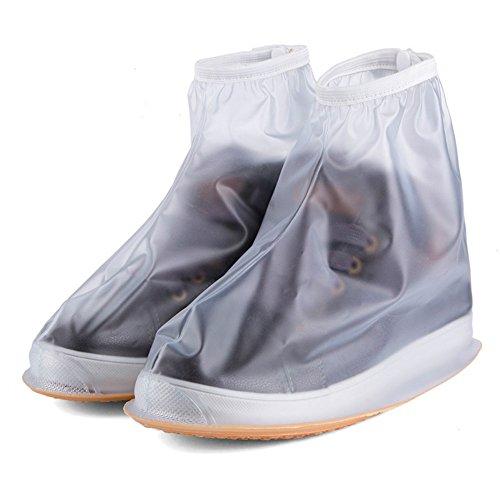 shedeu Herren Damen Regenjacke wasserdicht flach Knöchel Stiefel Heels Stiefel Schuhe Abdeckungen dicker rutschfeste Plattform Regen Stiefel