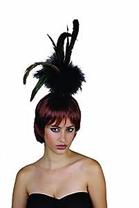 Reír Y Confeti - Fiefla018 - Accesorio Disfraz - Peluca - Show Girl - pelo de la pluma - Marrón