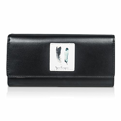 Fency ,  Damen Damen-Geldbörse schwarz schwarz Lang