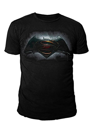 DC Comics - Batman vs Superman Herren T-Shirt - Logo (Schwarz) (S-XL) (L)