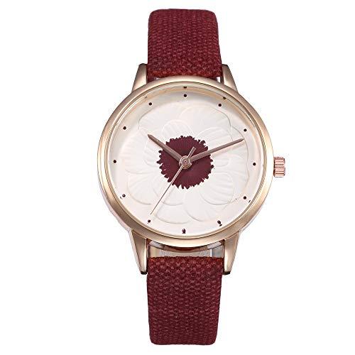 e8365b4babb5 DAYLIN Reloj Pulsera Mujer Relojes de Moda para Chicas Reloj Analogico de  Cuarzo Reloj Negro Blanco Marrón MujerJoyas Regalos