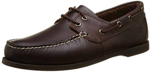 Timberland Cedar Bay, Náuticos para Hombre, Marrón Dark Brown Full Grain, 43 EU