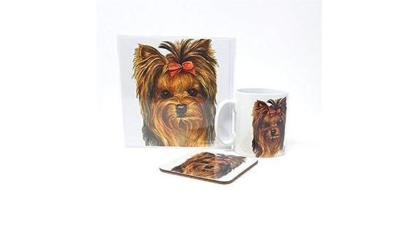 Grande serviette /à th/é en coton pour chien Yorkshire Terrier