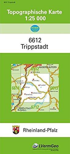 TK25 6612 Trippstadt: Topographische Karte 1:25000 (Topographische Karten 1:25000 (TK 25) Rheinland-Pfalz (amtlich))