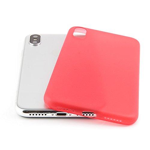 "QUADOCTA iPhone 6 (4,7"") Ultra Slim Case - Schutzhülle - ""Tenuis"" in Schwarz - Ultra dünne iPhone Hülle - Leicht transparentes Case Rot"