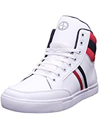 Black Tiger Shoes for Mens Synthetic Leather Boots & Casual Shoes and Sneakers 8053-White Shoes