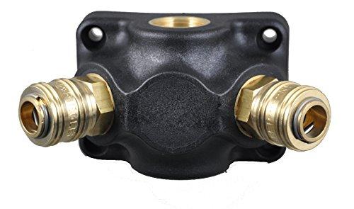Druckluft- Verteiler Wanddose 2 x G 1/2