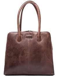 LEABAGS Lima sac à main rétro-vintage en véritable cuir de buffle