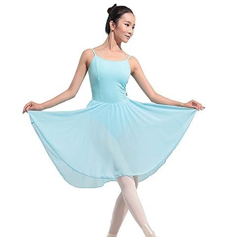 Modèles féminins Harnais Jupe en fil Ballet Danse Siamois Performance Jupe de danse , light blue , xl