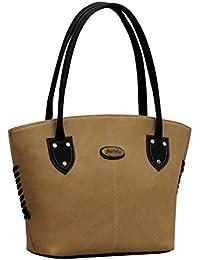 Fostelo Women's Squirel Shoulder Bag (Beige) (FSB-365)