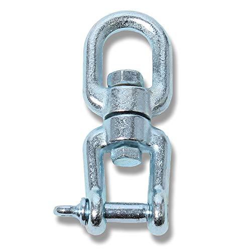 HOBEA-Germany Drehwirbel, Drehkopf, Spezialwirbel, Swivel, Aufhängung für Hängesessel, Drehwirbel aus Stahl bis 160 Kg Belastbar