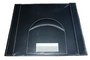 Sous main bureau Simili cuir noir avec Tapis souris repose poignet