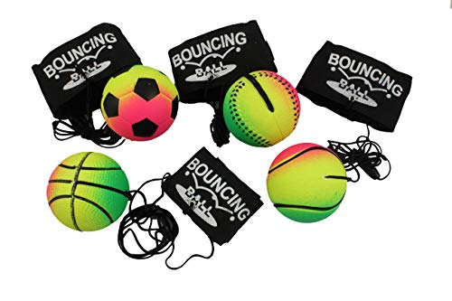 Creation Gross 4er / 12er Set Springball Returnball Armband & Schnur, Safety Clip, Fußball Basketball Tennis Baseball (2700010) (4)