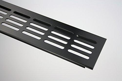 Aluminium Lüftungsgitter Stegblech Edelstahl eloxiert Breite 500 X 70
