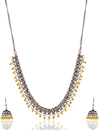 Ganapathy Gems Yellow Metal Strand Necklace Set For Women (13272)