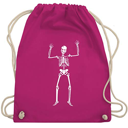 Halloween - Skelett Skeleton - Unisize - Fuchsia - WM110 - Turnbeutel & Gym Bag