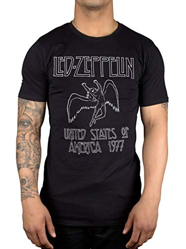 AWDIP Oficial Led Zepplin United States of America 1977 T-Shirt