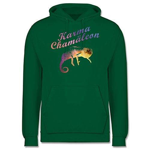 Statement Shirts - Karma Chamäleon - Männer Premium Kapuzenpullover / Hoodie Grün
