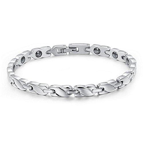TIZIKJ Frauen-Armband Titan Stahl Gesundheitspflege Schmuck