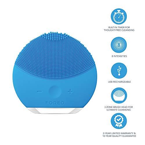 Foreo luna mini 2 dispositivo pulizia viso | aquamarine