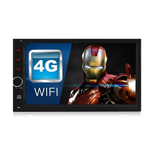 A-Sure 7 Zoll Android 7.1.2 Autoradio 2GB RAM 32GB ROM 2 Din Navigation GPS Unterstützt DAB+ DVR OBD DVB Box 4G Bluetooth Wifi 180mm X 105mm Auto Navi USB MicroSD Universal SH023J 2-Jahre-Garantie