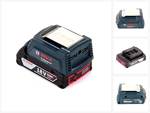 Bosch USB Power Set 18 V mit GAA Professional USB Adapter für 14,4 V / 18 V Akkus + 1x GBA 18V 2,0 Ah Li-Ion Einschub Akku